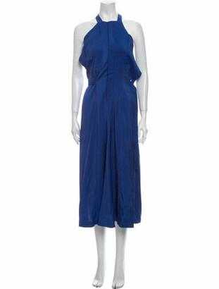 Jacquemus Halterneck Long Dress Blue