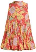 Rhode Resort Clara Floral-print Cotton Top - Womens - Red Multi