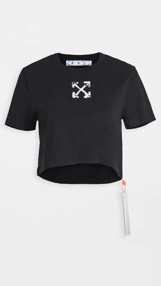 Off-White Pray Arrow Crop Casual Tee