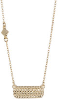 Cole Haan Gold Vermeil Weaved Bar Pendant Necklace