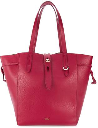 Furla Net pebbled tote bag