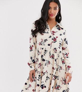 Y.A.S Petite floral high neck dress