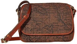 Patricia Nash Belleau - New Flap Rect Crossbody w/ One Strap (Brown/Tan) Handbags