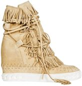 Casadei Suede Fringed Sneakers