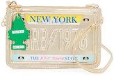 Betsey Johnson Kitsch License Crossbody Bag, Pewter
