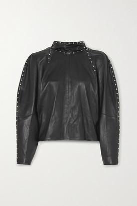Isabel Marant Studded Leather Top - Black