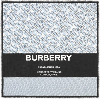 Burberry Large Monogram Square Scarf