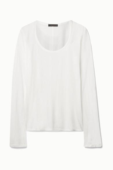 The Row Baxerton Jersey Top - White