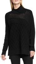 Vince Camuto Multi Stitch Cable Sweater (Regular & Petite)