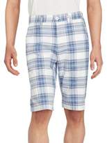 Buffalo David Bitton Heylie Checkered Flat Front Shorts
