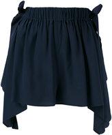 Fendi scalloped handkerchief shorts - women - Silk/Cotton/Viscose - 40