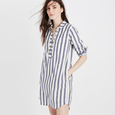 Madewell Striped Lace-up Shirtdress