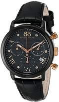 88 Rue du Rhone Men's 87WA130005 Analog Display Swiss Quartz Black Watch