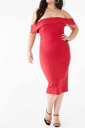 Forever 21 Plus Size Off-the-Shoulder Bodycon Dress
