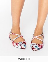 Asos LIVE FOR THE MOMENT Wide Fit Ballet Flats