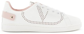Valentino Backnet V-logo Leather Trainers - Pink White