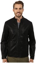 Perry Ellis Textured Faux Leather Bomber