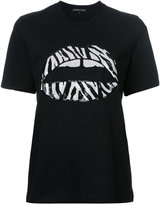 Markus Lupfer sequin lips T-shirt - women - Cotton - S