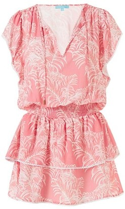 Melissa Odabash Keri Tropical Smocked Dress