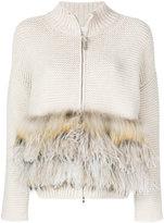 Fabiana Filippi knitted fur-trim cardigan