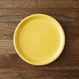 Crate & Barrel Farmhouse Yellow Salad Plate