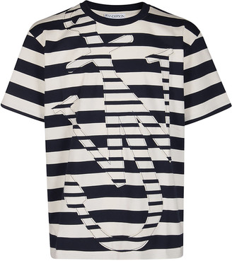 J.W.Anderson Blue And White Cotton T-shirt