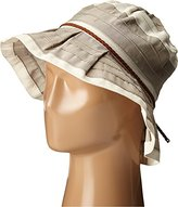 San Diego Hat Company Women's 4-Inch Brim Sun Brim Hat with Ivory Stripes