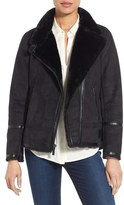 MICHAEL Michael Kors Women's Asymmetrical Faux Shearling Jacket