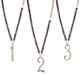 Lulu Frost Plaza Number Necklace - Black Pearl Chain