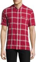 Ovadia & Sons Crosby Plaid Short-Sleeve Shirt, Red