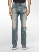 Calvin Klein Slim Straight Fatigue Destructed Jeans