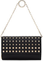 Valentino Black Garavani Rockstud Wallet Chain Bag