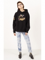 Aries Liberace Oversized Embroidered Rat Hoodie in Black - Last one