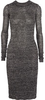 Isabel Marant Dakota Ribbed-knit Dress - Black
