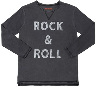 Zadig & Voltaire Rock & Roll L/S Cotton Jersey T-Shirt