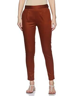 Wild Hazel Casual Skinny Pant for Women- Solid XX Large Zip & Hook-Eye Closure