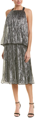 Jason Wu Layered Silk-Blend Cocktail Dress