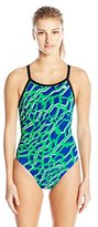adidas Women's Primal Vortex Back Performance One Piece Swimsuit