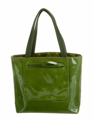 Prada Spazzolato Top Handle Bag Green