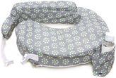 My Brest Friend Original Nursing Pillow in Grey with Sage Dotted Daisies