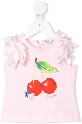 MonnaLisa Cherry Print Sleeveless Top
