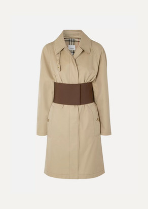 Burberry Belted Cotton-gabardine Trench Coat - Beige