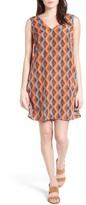 Halogen V-Neck Shift Dress (Regular & Petite)