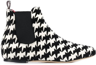 Bams geometric print ankle boots