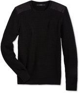 GUESS Men's Waffle-Knit Sweater