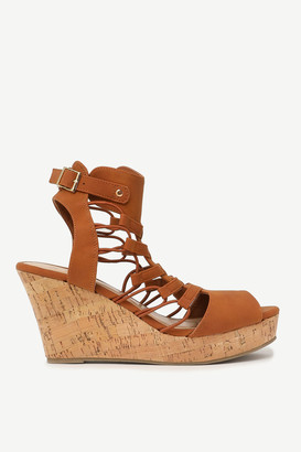 Ardene Caged Cork Heeled Sandals