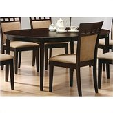 Coaster Home Furnishings Coaster Contemporary Oval Dining Table, Cappuccino Finish