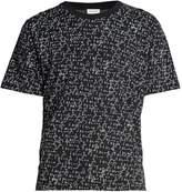 Saint Laurent Je t'aime-print cotton T-shirt