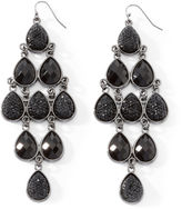 JCPenney Mixit Faceted Jet Bead Chandelier Earrings