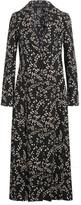 Giambattista Valli Floral-print Crepe Coat - Black